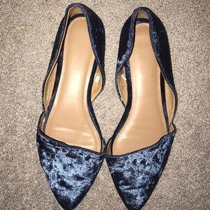 Shoes - Blue velvet flats